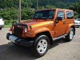 2011 Mango Tango Pearl Jeep Wrangler Sahara 4x4 #83774836