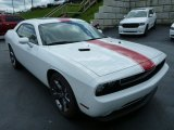 Bright White Dodge Challenger in 2013