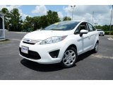 2013 Oxford White Ford Fiesta S Sedan #83836309