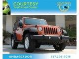 2011 Mango Tango Pearl Jeep Wrangler Sport 4x4 #83836293