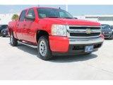 2007 Victory Red Chevrolet Silverado 1500 LS Crew Cab #83836387