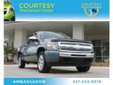 2009 Blue Granite Metallic Chevrolet Silverado 1500 LT Crew Cab #83836288