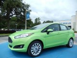 2014 Green Envy Ford Fiesta SE Sedan #83835973