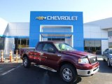2006 Dark Toreador Red Metallic Ford F150 XLT SuperCab 4x4 #83836069