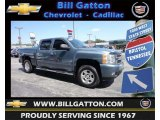 2008 Blue Granite Metallic Chevrolet Silverado 1500 LT Crew Cab #83884274