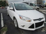 2012 Oxford White Ford Focus SEL 5-Door #83883739