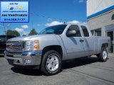 2013 Silver Ice Metallic Chevrolet Silverado 1500 LT Extended Cab 4x4 #83883717