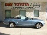 2005 Windveil Blue Metallic Ford Mustang V6 Premium Convertible #83883713