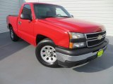 2007 Victory Red Chevrolet Silverado 1500 Classic LS Regular Cab #83883943