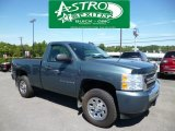 2009 Blue Granite Metallic Chevrolet Silverado 1500 LS Regular Cab 4x4 #83935260