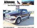 2012 Deep Cherry Red Crystal Pearl Dodge Ram 1500 Laramie Crew Cab 4x4 #83935118