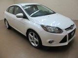 2012 White Platinum Tricoat Metallic Ford Focus Titanium Sedan #83934977