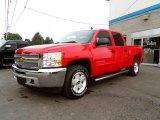 2013 Victory Red Chevrolet Silverado 1500 LT Crew Cab 4x4 #83935049