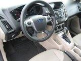 2012 Ford Focus SE 5-Door Stone Interior