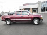 2002 Dark Carmine Red Metallic Chevrolet Silverado 1500 LS Extended Cab 4x4 #83961232