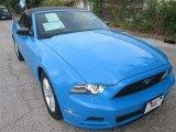 2013 Grabber Blue Ford Mustang V6 Premium Convertible #83990704