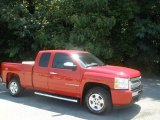 2009 Victory Red Chevrolet Silverado 1500 LT Extended Cab 4x4 #83991247