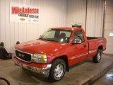 2001 Fire Red GMC Sierra 1500 SLE Regular Cab 4x4 #83991328