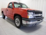 2005 Victory Red Chevrolet Silverado 1500 Regular Cab #83991078