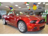 2014 Ruby Red Ford Mustang V6 Premium Convertible #84042650