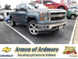 2014 Blue Granite Metallic Chevrolet Silverado 1500 LT Z71 Crew Cab 4x4 #84042779