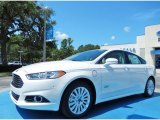 2013 White Platinum Metallic Tri-coat Ford Fusion Energi SE #84042532