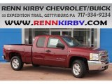 2013 Deep Ruby Metallic Chevrolet Silverado 1500 LT Extended Cab 4x4 #84093290