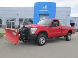 2012 Vermillion Red Ford F350 Super Duty XL Regular Cab 4x4 Plow Truck #84135998