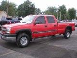 2003 Victory Red Chevrolet Silverado 2500HD LS Crew Cab 4x4 #84136218