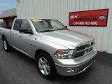2010 Bright Silver Metallic Dodge Ram 1500 Big Horn Quad Cab 4x4 #84136213