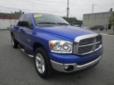 2008 Electric Blue Pearl Dodge Ram 1500 Big Horn Edition Quad Cab 4x4 #84136201