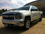 2014 White Diamond Tricoat Chevrolet Silverado 1500 LTZ Crew Cab 4x4 #84135667