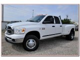 2007 Bright White Dodge Ram 3500 Lone Star Quad Cab 4x4 Dually #84135832