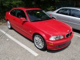 2002 Electric Red BMW 3 Series 330i Coupe #84194010