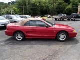 1996 Laser Red Metallic Ford Mustang V6 Convertible #84216961