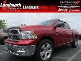 2010 Inferno Red Crystal Pearl Dodge Ram 1500 SLT Crew Cab #84217029