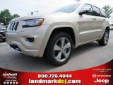 2014 Cashmere Pearl Jeep Grand Cherokee Overland 4x4 #84217027