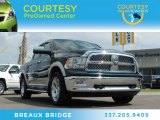 2011 Hunter Green Pearl Dodge Ram 1500 Laramie Crew Cab 4x4 #84217330
