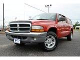 2004 Flame Red Dodge Dakota SLT Quad Cab #84257074