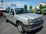 2005 Silver Birch Metallic Chevrolet Silverado 1500 Regular Cab 4x4 #84312383