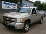 2009 Graystone Metallic Chevrolet Silverado 1500 LT Regular Cab 4x4 #84312481