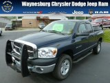 2007 Patriot Blue Pearl Dodge Ram 1500 SLT Quad Cab 4x4 #84312478