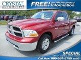 2010 Inferno Red Crystal Pearl Dodge Ram 1500 SLT Quad Cab 4x4 #84312657