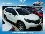 2013 White Diamond Pearl Honda CR-V LX AWD #84312695