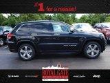 2014 Brilliant Black Crystal Pearl Jeep Grand Cherokee Overland 4x4 #84312239