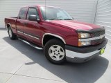 2005 Sport Red Metallic Chevrolet Silverado 1500 LS Extended Cab #84312495