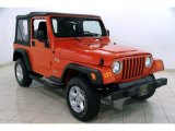 2006 Impact Orange Jeep Wrangler X 4x4 #84358119