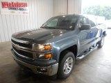 2014 Blue Granite Metallic Chevrolet Silverado 1500 LT Crew Cab 4x4 #84358276