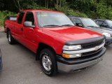 2001 Victory Red Chevrolet Silverado 1500 LS Extended Cab 4x4 #84357911