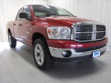 2008 Inferno Red Crystal Pearl Dodge Ram 1500 ST Quad Cab 4x4 #84358083